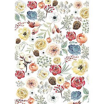 ستامبريا رايس ورقة A4 الزهور والصنوبرون