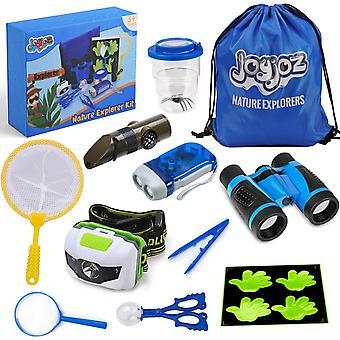 Joyjoz zabawki na świeżym powietrzu 12 szt., zestaw przygodowy natury, prezenty edukacyjne dla dzieci, lornetka, powiększanie