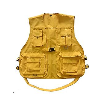 Military Multiple Pockets Cargo Vest, Hip Hop Hihaton Takki
