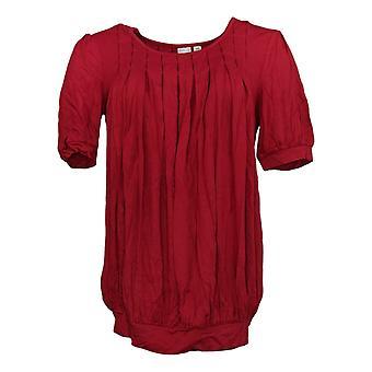 M by Marc Bouwer XXS Blouson Knit Top w/ Cherry True Red A203512