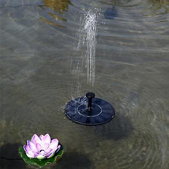Solar Bionic Fountain Mini Solar Fountain Solar Water Fountain (black)
