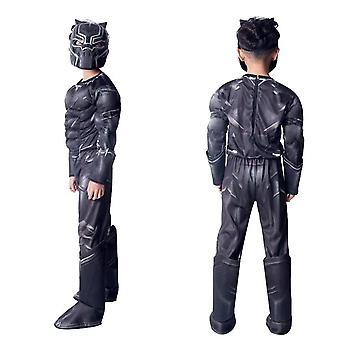 Children&s Clothing Panther Costume Hero Cos Costume Party Klä upp
