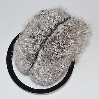 Winter Women Warm Soft Real Rabbit Fur Earmuffs, Plush Ear Muff