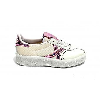 Shoes Women Munich Sneaker Mod. Barru Sky In White Leather\pink 037 Ds20mu06