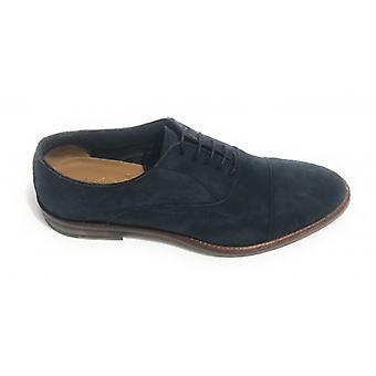 Men's Shoes Ben.ter Francesina In Suede Col. Handmade Blue Us18bt26