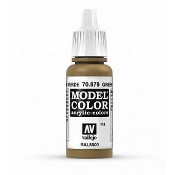 Vallejo Model Color 17ml Acrylic Paint - 879 Green-brown