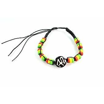 Sanskrit Om & Rasta Vibes Friendship Bracelet