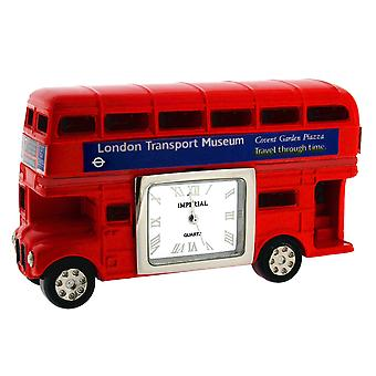 GTP Unisex Red London Routemaster Bus Red Painted on Alloy Collectors Novelty Clock IMP409