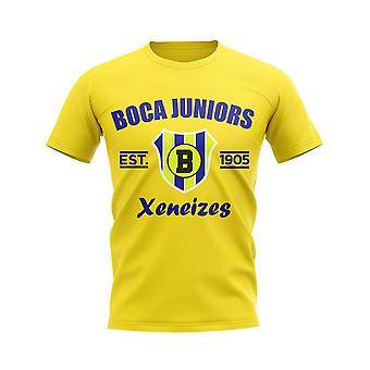 Boca Juniors Perustettu Jalkapallo T-paita (Keltainen)