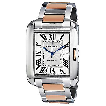 Cartier Tank Anglaise XL Automatic Silver Dial Men's Watch W5310006