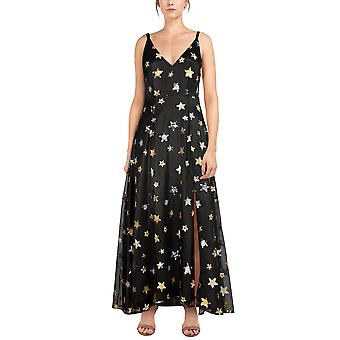 Chic Star Plus Size Sequin Embellished Maxi Dress In Black