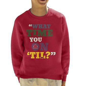 London Taxi Company Vilken tid du på Til Kid & s Sweatshirt