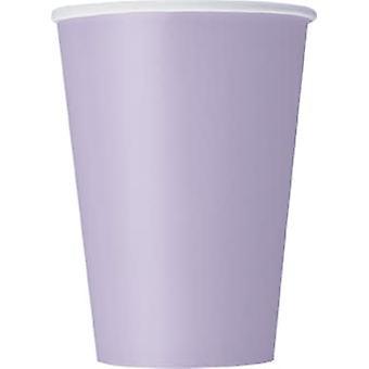10 Lavendel kartonnen bekers 355 ml