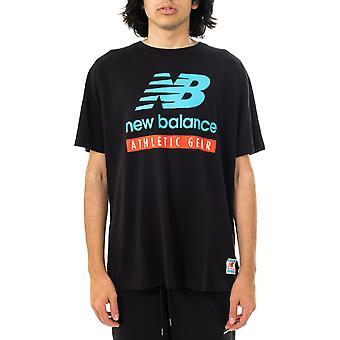 T-shirt homme nouvel équilibre essentiels logo tee mt11517bk