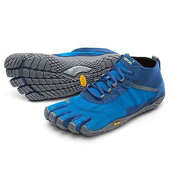 Vibram V-Trek Mens Mega Grip Five Fingers Walking Hiking Trek Trainers Shoes - Blue/Grey