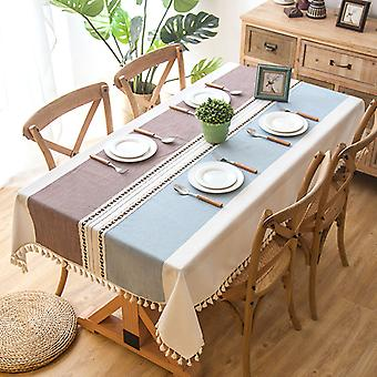 Decorative Tablecloth With Tassel Lacework Rectangular Dining Table Cover Tea Table Cloth