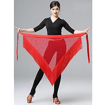 New Lady Fringed Triangle Latin Dance Dress Costume