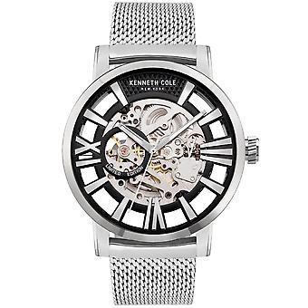 Kenneth Cole Kc51018023a Automatique Argent Acier Inoxydable Mesh Strap Mens Watch