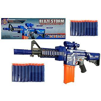 Duży magazynek z pistoletem na śnięć z amunicją – Niebieski
