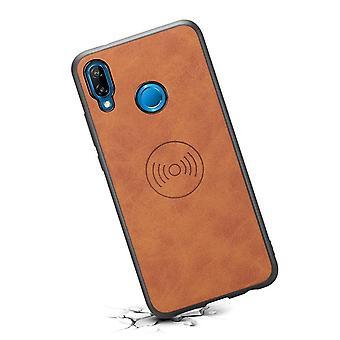 حقيبة هاتف جلدي مع حامل  لسامسونج Note9 البني الرجعية
