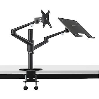 Verstelbare aluminium laptop en monitor kantel- en draaibare bureau