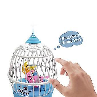 צעצועים חינוכיים לילדים כחולים ילדים שרים וצוירים ציפור x3382