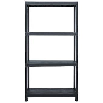 vidaXL opbergplank zwart 100 kg 60 x 30 x 138 cm kunststof