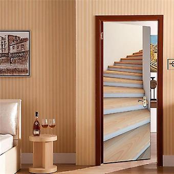Creative 3d Vision Door Sticker - Set 1