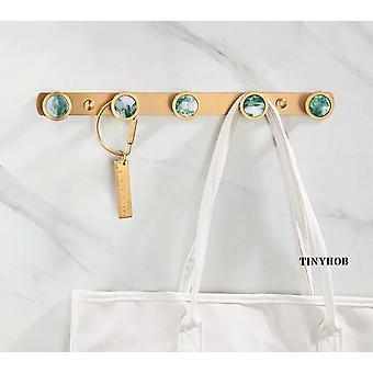 Nordic Style/Marble Pattern+Solid Brass Hook Decorative Coat Key Storage Hooks Door Hanger Wall Hanging Furniture Hardware|Robe Hooks
