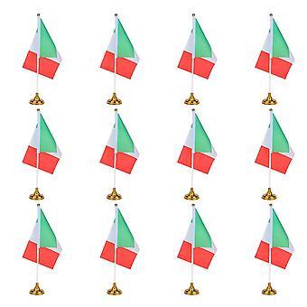 12kpl Italia National Country Flag Creative Desktop Flag Unique Pöytälippujen työpöytäkori kotitoimistolle, jossa on pohja