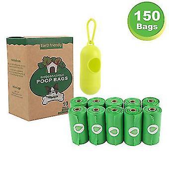 10st Biologiskt nedbrytbar pet garbage bag Miljöskydd Biologiskt nedbrytbar hundbajspåse (grön)