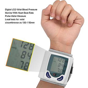 Digitales Handgelenk-Blutdruckmessgerät mit Pulsmessung der Herzfrequenz
