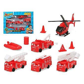 Vehicle Playset Fireman Red 119411