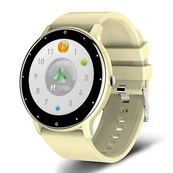 Lige 2021 Smartwatch with Heart Rate Monitor - Fitness Sport Activity Tracker Silicone Strap Watch iOS Android Yellow
