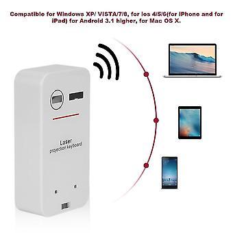 Bärbar virtuell laser tangentbord Mini Bluetooth Projektionstangentbord för telefoner