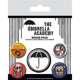 Umbrella Academy Super Badge Set (Pachet de 5)