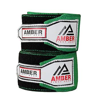 Amber 3m Elastic Boxing Hand Wraps MMA Adult Wrist Protector Green