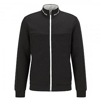 Boss Green Hugo Boss Skaz 1 Zip Up Sweatshirt Black 001 50452631