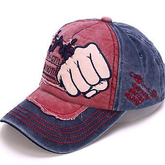 Retro denim baseball cap punch zonnehoed borduurwerk snapback hoeden