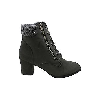 Madden Girl Womens Tell Lace-up Booties Suede Almond Toe Ankle Fashion Boots
