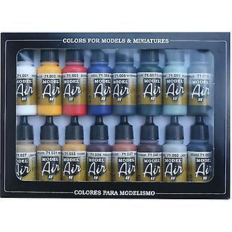 バジェホモデルエアセット - 基本色 - 16 x 17mlボトル