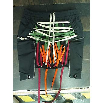Women High Elastic Waist Bandage Split Joint Irregular Half-body Skirt