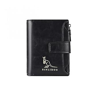 New Style Men's Leather Wallet Rfid Blocking Anti Theft Vertical Business Card Holder Male Coin Purse Bag Wallet Men