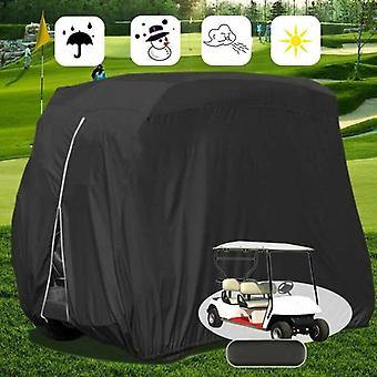(M 275x122x168cm) Waterproof Windproof Golf Club Cart Buggy Cover Protector Dust-proof Package Bag