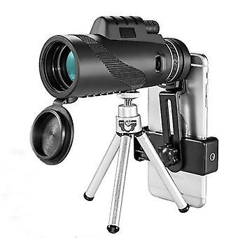 40x60 Monokular HD Optisch BAK4 2000T Objektiv Teleskop Tag Nachtsicht 1500m / 9500m + Stativ + Telefonclip