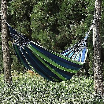 Hammocks 1pc أرجوحة المحمولة في الهواء الطلق أرجوحة حديقة الرياضة المنزل السفر التخييم سوينغ قماش شريط أرجوحة