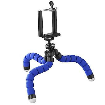 Motor vehicle video monitor mounts flexible selfie tripod holder for phones and cameras blue