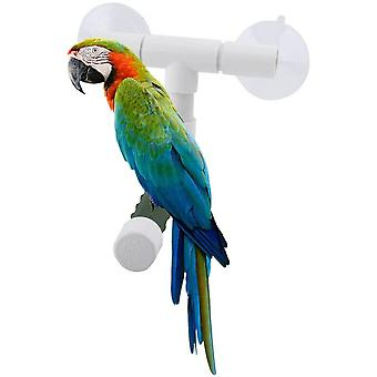 Bird Parrot Perches Foldable Suction Cup Window Shower Bath Wall Paw Grinding Stand Toy For Parakeet Bath Perches Toy