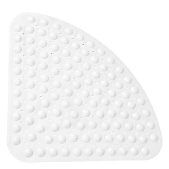 Tuulettimen muotoinen liukumaton matto jalkatyyny kylpyhuoneen hotellin WC: lle (54 * 54cm) (valkoinen)
