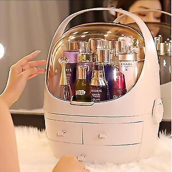 Luxuriöser tragbarer Kosmetik- und Schmuckbox-Organizer im skandinavischen Stil (Beige)